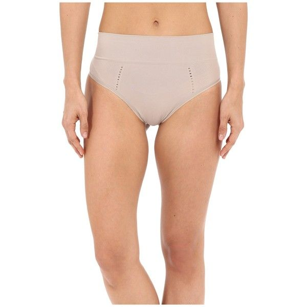 Spanx Lounge-Hooray! Thong (Sandcastle) Women's Underwear ($19) ❤ liked on Polyvore featuring intimates, panties, spanx, underwear thong, spanx thong, seamless thong and mesh thong