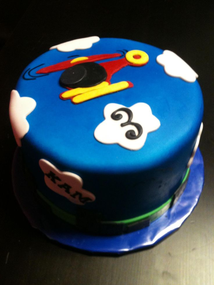 A little helicopter cake