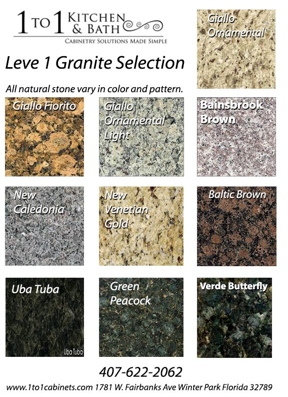 Level 1 granite colors offered at the best prices www for Granite countertops colors price
