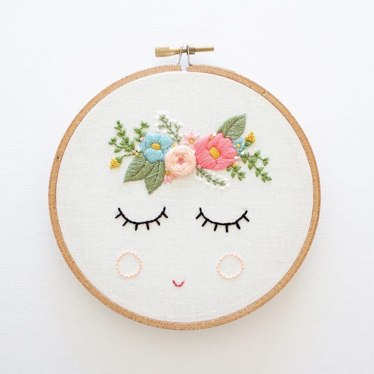 POSY - Embroidery Pattern - Digital Download by ThreadFolk on Etsy https://www.etsy.com/listing/462475419/posy-embroidery-pattern-digital-download