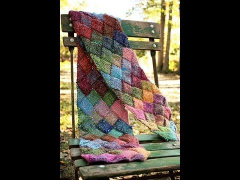 Learn to Knit an Entrelac Scarf - YouTube
