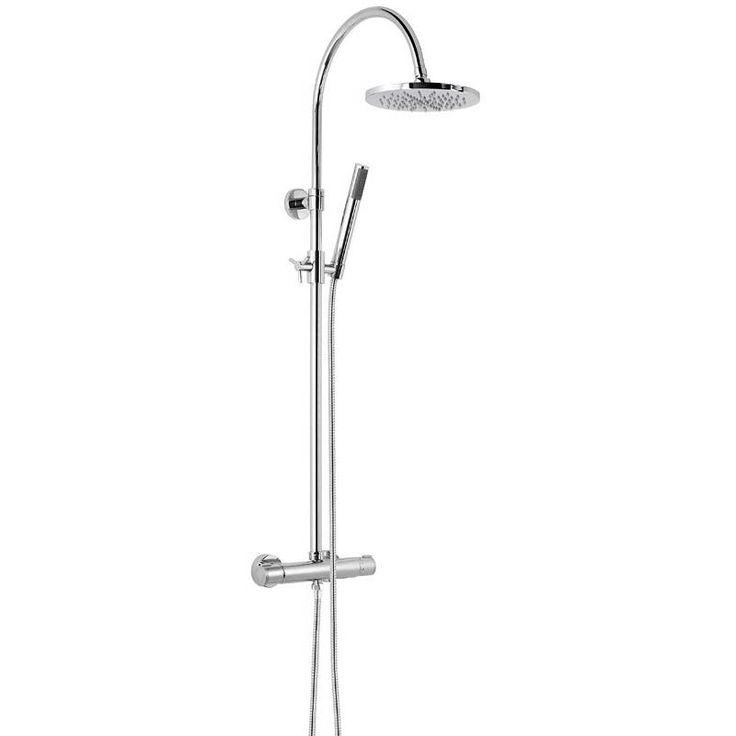 Aria Round Head Shower Riser System with Shower Waste