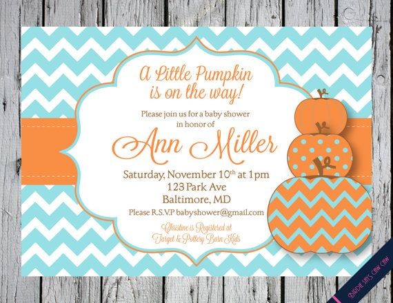 Little Pumpkin Printable Baby Shower Birthday by BirdieSaysCawCaw, $12.00