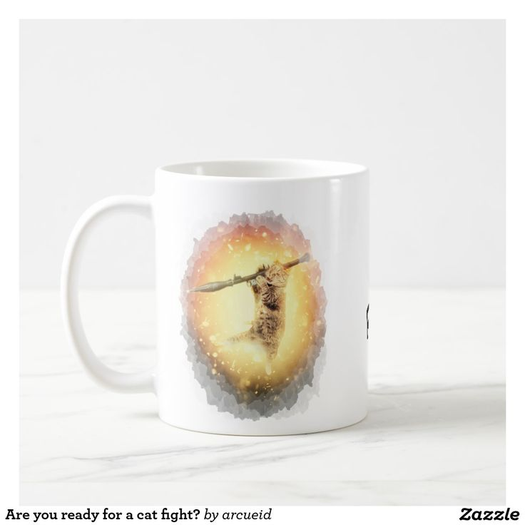 Are you ready for a cat fight? coffee mug