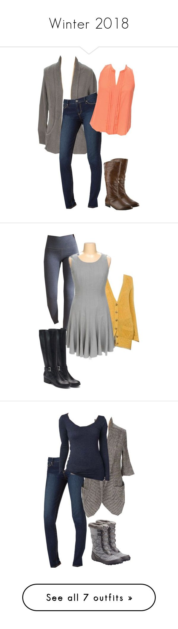 """""""Winter 2018"""" by emorrell on Polyvore featuring Levi's, Mossimo, Aerie, Croft & Barrow, Columbia, Not Shy, ASOS, Liz Claiborne and Old Navy"""