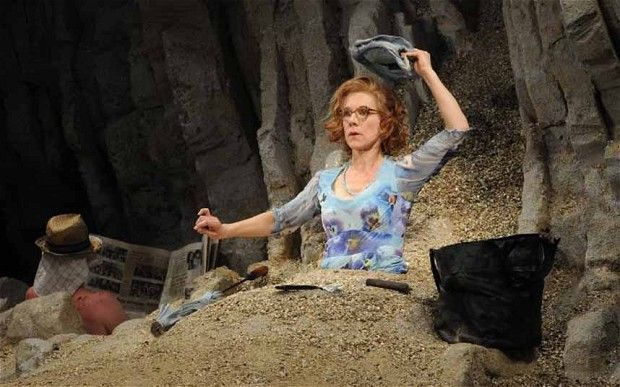 Juliet Stevenson in the Young Vic's 2014 production of Samuel Beckett's Happy Days