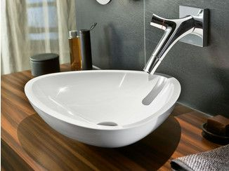 Wall-mounted washbasin mixer AXOR STARCK ORGANIC   Wall-mounted washbasin mixer - HANSGROHE