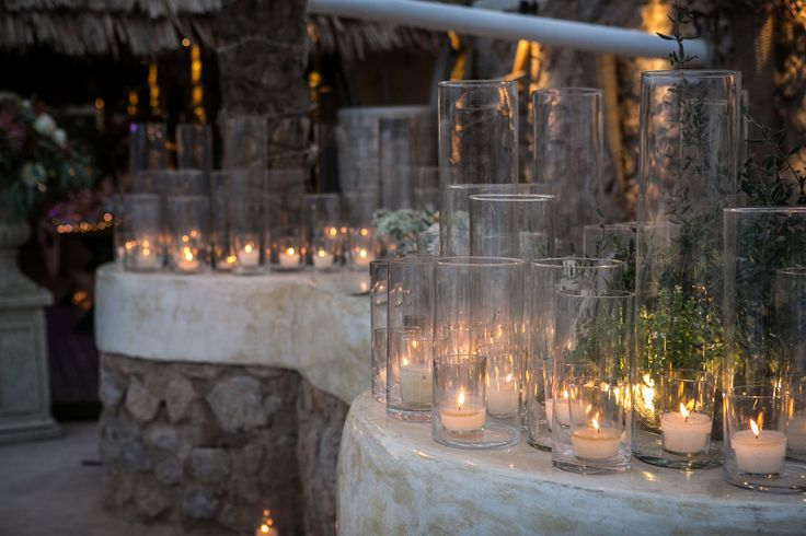 The atmosphere is ideal for a lovely wedding! Candles everywhere!!!!!