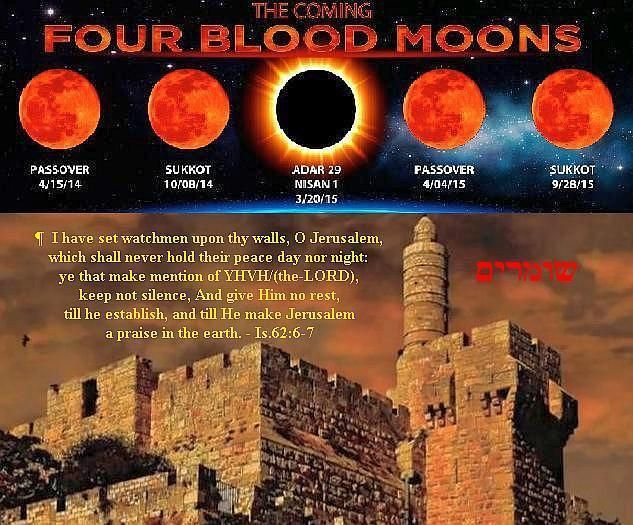 """Get Ready! Something BIG Is About To Happen! --  For the past two years, people have been intrigued with the subject of the prophetic """"Blood Moons."""" Why? Because they have not just something to do with the Return of CHRIST–but A LOT to do with His Return! Whether you have pursued the study of the blood moons or not, these two videos are a must-see.  Whether you like John Hagee or not, the information provided here is biblically sound and phenomenal! [...] 09/12/13 ~>Click for Videos~>"""