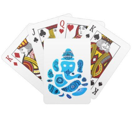 Playing Cards Ganesha - drawing sketch design graphic draw personalize