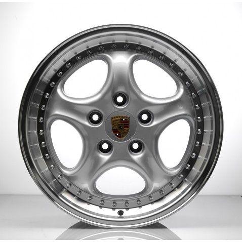 4 jantes alu Veloce Wheels RS , 18 pouces, 5x130, Silver pour Porsche