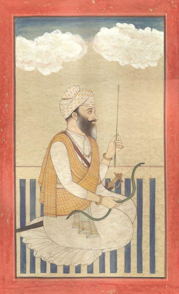 Sikh Chief Bhag Singh Ahluwalia Art 18th Century Antique Finish Replica Painting