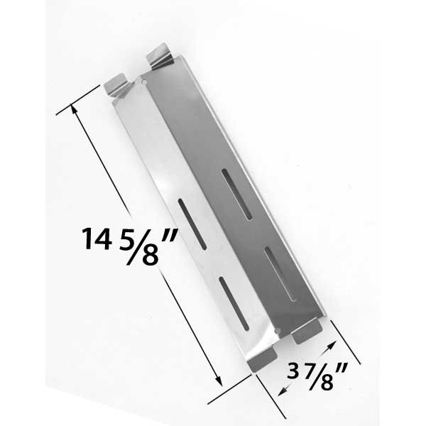 REPLACEMENT STAINLESS STEEL HEAT PLATE FOR PATIO RANGE, GRILL CHEF, FIESTA, BLUE EMBER GAS GRILL MODELS Fits Compatible Models : CG41064, CG41064LP, SK472B