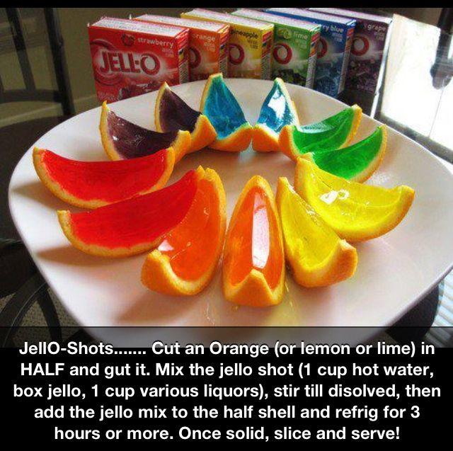festive jello shots