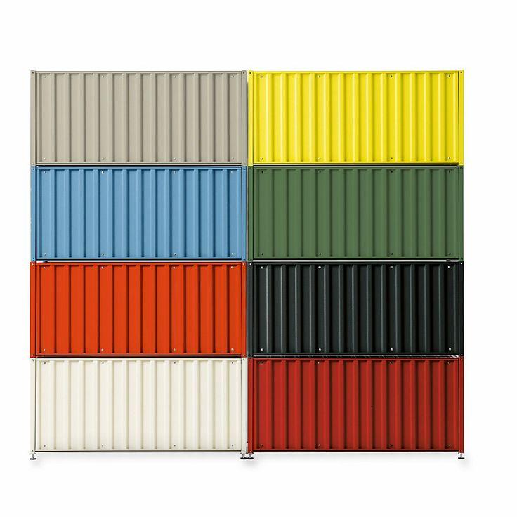 Synonym für Verstauen und Transportieren: Schrankmöbel in der miniaturisierten Gestalt der Überseecontainer. Mithilfe diverser... - Container DS