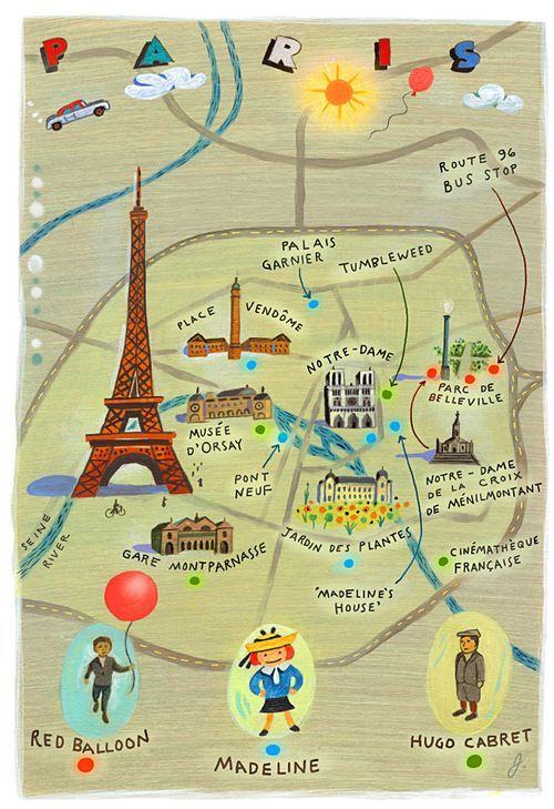 paris map for kids