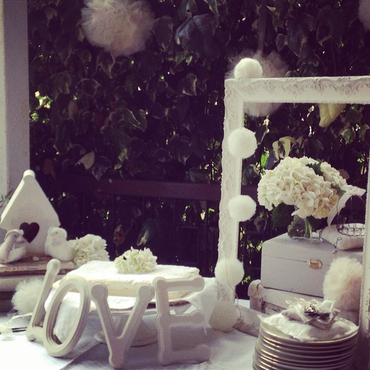 White table setting for a party