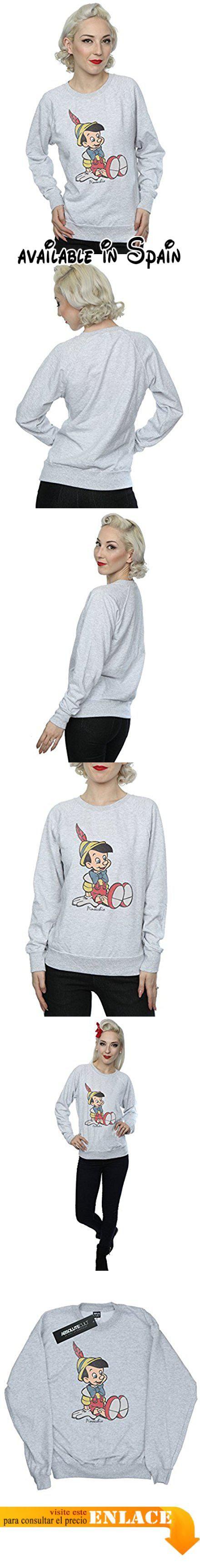B01N4QIAXK : Disney mujer Classic Pinocchio Camisa de entrenamiento XX-Large cuero gris. Con licencia oficial de mercancía con toda la marca de licencia autorizado envasado y etiquetado. 240gsm ligera perfecta de prendas de vestir para el verano o el uso durante todo el año.. De peso ligero de lana sin cepillar mangas raglán y costuras laterales con forma para un ajuste femenino.. Gracias por confirmar su tamaño para evitar decepciones. Nuestro tamaño X-Small es el
