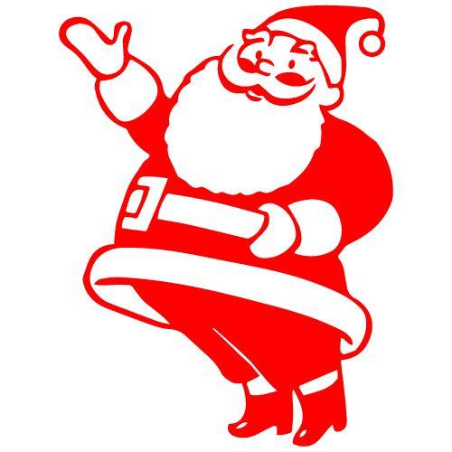 Joyful Santa Sticker