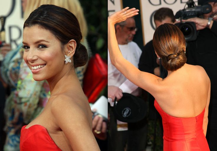 chigons | Celebrity Hairstyles: Chignons, Low Buns - Celebrity Hair Gallery ...