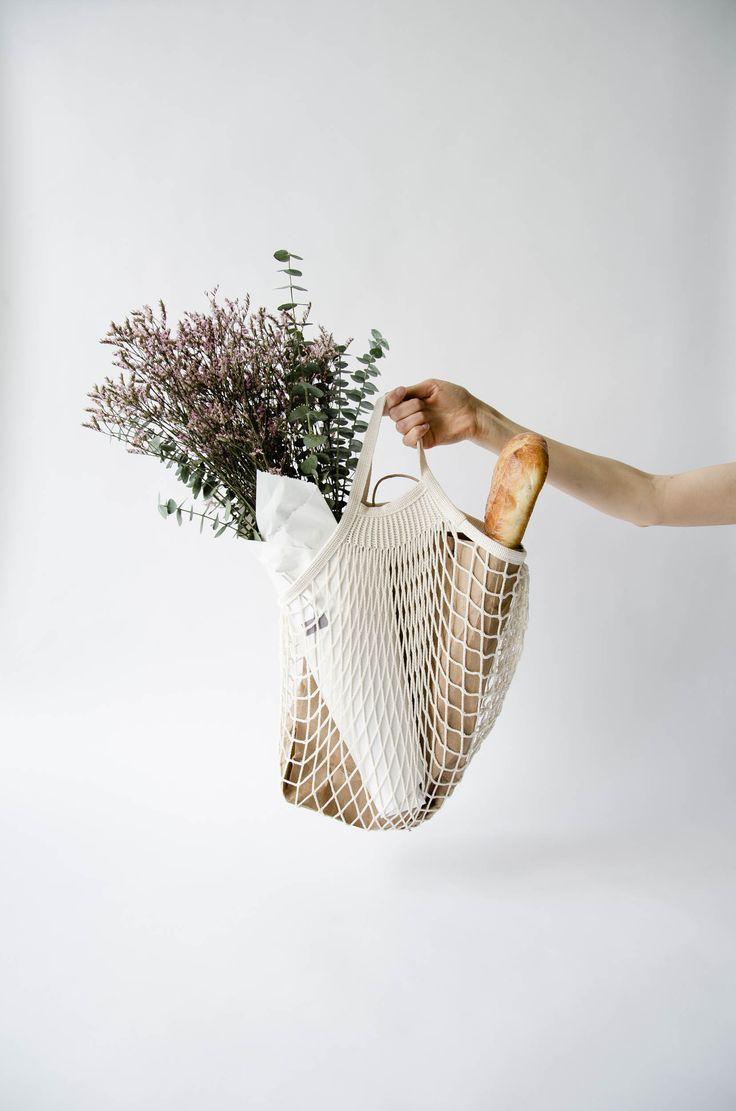 parisian net bag for zero waste shopping.