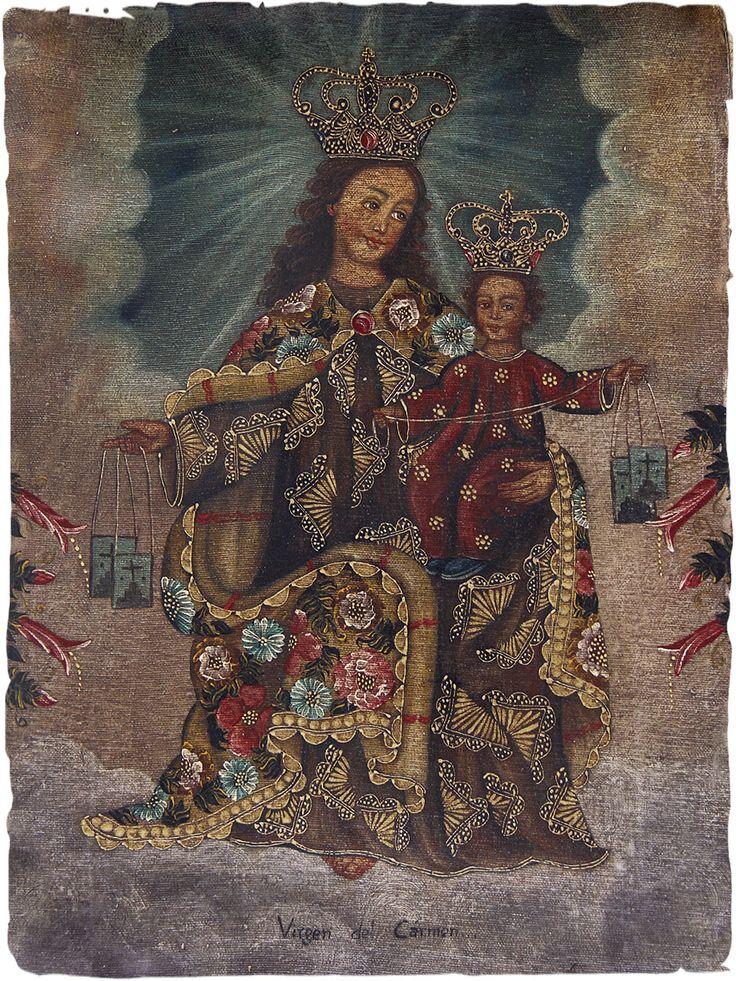 quadro ad olio Virgen del Carmen #quadri ad #olio scuola #Cuzco #arte #originale, #dipinto a olio del #Peru #olio su #tela - cm. 30x40 www.lamamita.it/store/abbigliamento-invernale/1/quadri-soprammobili-tappeti/quadri-ad-olio#sthash.X7xlt65Z.dpuf