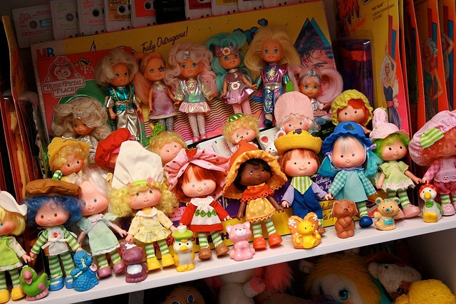 Original Strawberry Shortcake dolls (before they made her sucky like today) & Moondreamers by *Jemgirl*