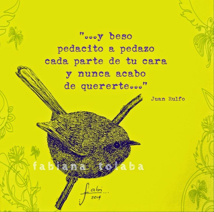 """... y beso pedacito a pedazo cada parte de tu cara y nunca acabo de quererte...""  Juan Rulfo-Escritor mexicano-(1917 - 1986) http://misagapantos.blogspot.com.ar/"