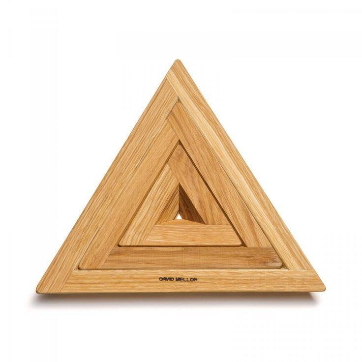 David Mellor Oak Triple Trivet  - David Mellor Design