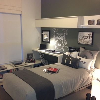 10 fotos de habitaciones juveniles para chicos grey for Bedroom designs normal