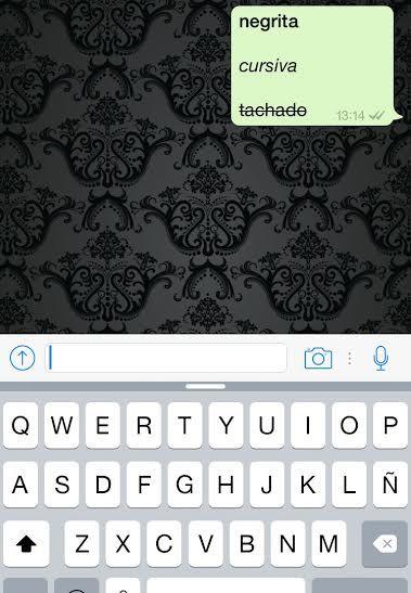 Ya puede poner negrita, cursiva y tachado en WhatsApp
