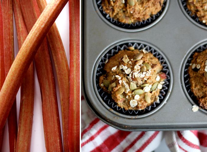 Chia Rhubarb Apricot Muffins Recipe - These are great! No refined sugar
