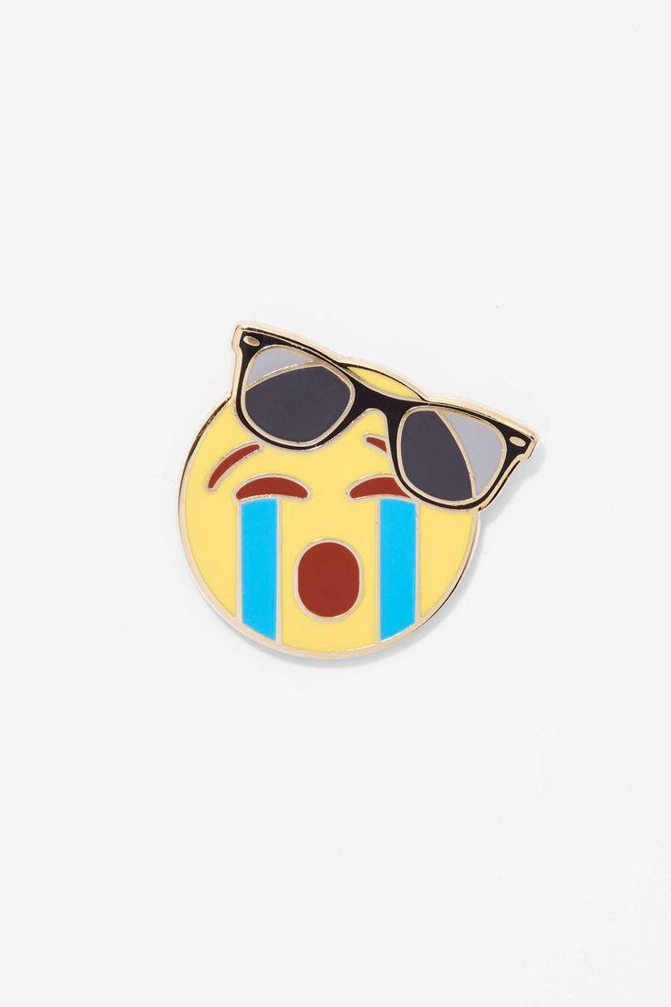 Popglory Sadshade Emoji Pin