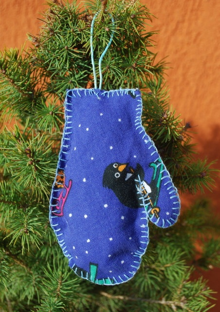Christmas Tree Ornament  Glove by IrMarina on Etsy, $6.00
