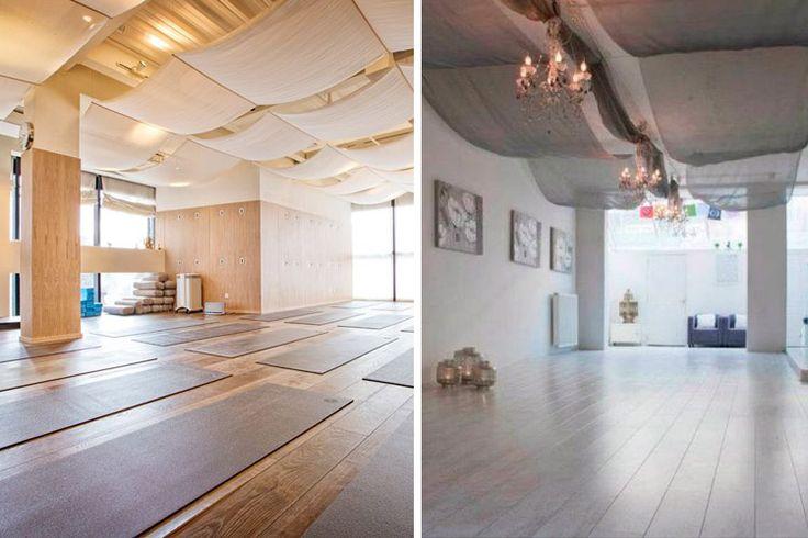 techos decorados con tela, podría usarse hilo de nylon