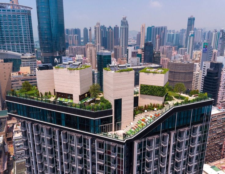 This rooftop complex, which includes a bar, pool and garden, provides an inner-city escape for apartment residents