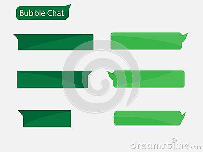 Vector Design Chat bubble for you application advertising with green color