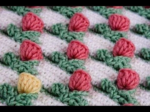 TULIP stitch crochet - so easy and lovely! - YouTube
