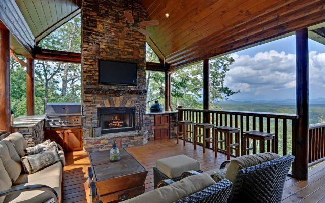 My favorite just for this picture right here - Luxury Cabin Rentals in Blue Ridge, Georgia.  http://www.mountaintopcabinrentals.com