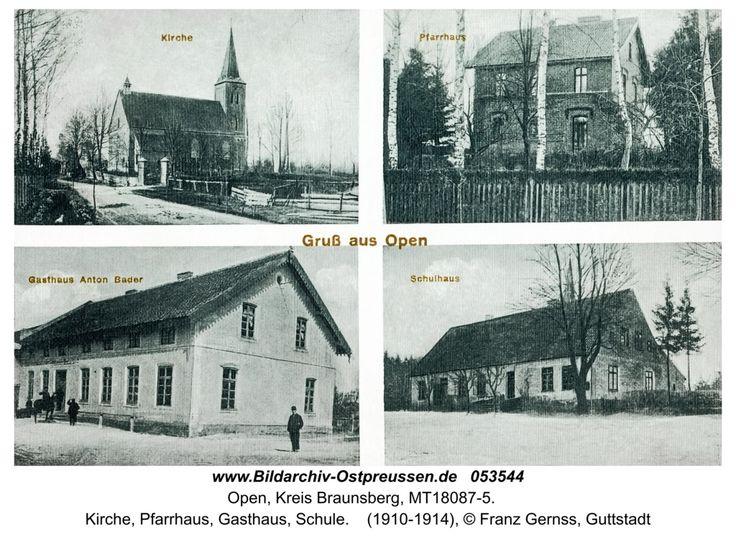 Open, Kirche, Pfarrhaus, Gasthaus, Schule