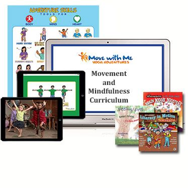 Enjoy fun video classes, effective self-regulation techniques, and innovative lesson plan themes with 200+ activities. Use the curriculum parts as you wish, or implement weekly per the lesson plans to fulfill early learning framework and common core standards for movement, creative arts, and social-emotional learning.View a sample of the Movement & Mindfulness Curriculum.