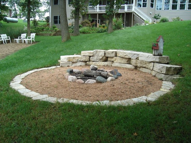 Firepit In Hillside Fire Pit Like The Concept For Our Sloped Lawn Would Want To Nice It Up A Bit Landscaping 2018 Pinterest