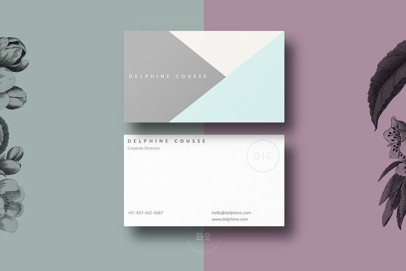Modern Business Card Design by Botanica Paperie on Creative Market