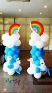 Картинки по запросу balloon decoration columns