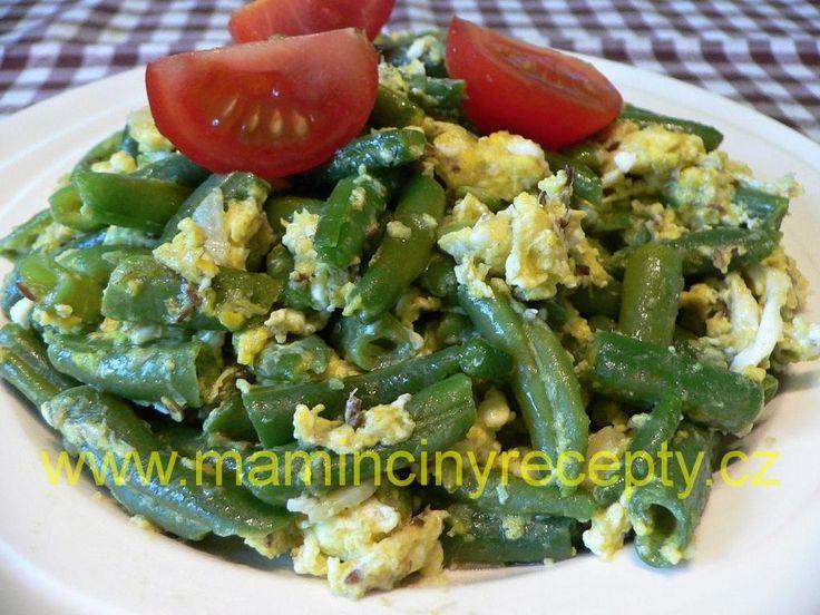Zelené fazolky s vejcem