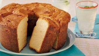 Southern-style sweet potato pound cake gets a jumpstart from a convenience mix.