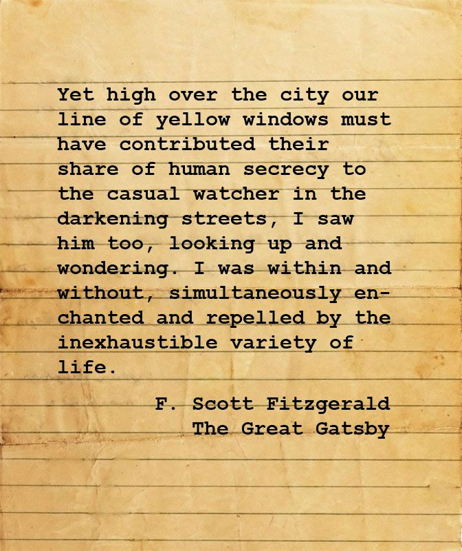 the doubleness in fitzgerald in the novel the great gatsby by f scott fitzgerald Here's what f scott fitzgerald thought about his classic american novel the great gatsby.