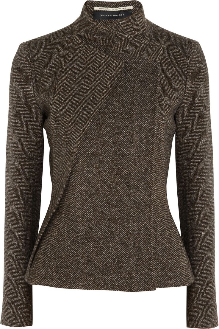 Roland Mouret - Tulkinghorn herringbone tweed jacket