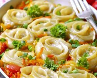 Roses de lasagnes allégées aux légumes