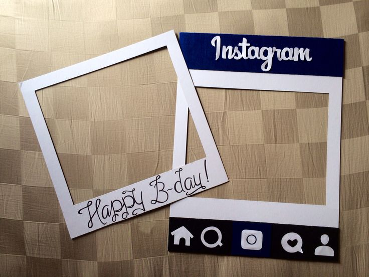 DIY Polaroid & Instagram frame photo booth props for Myles' birthday